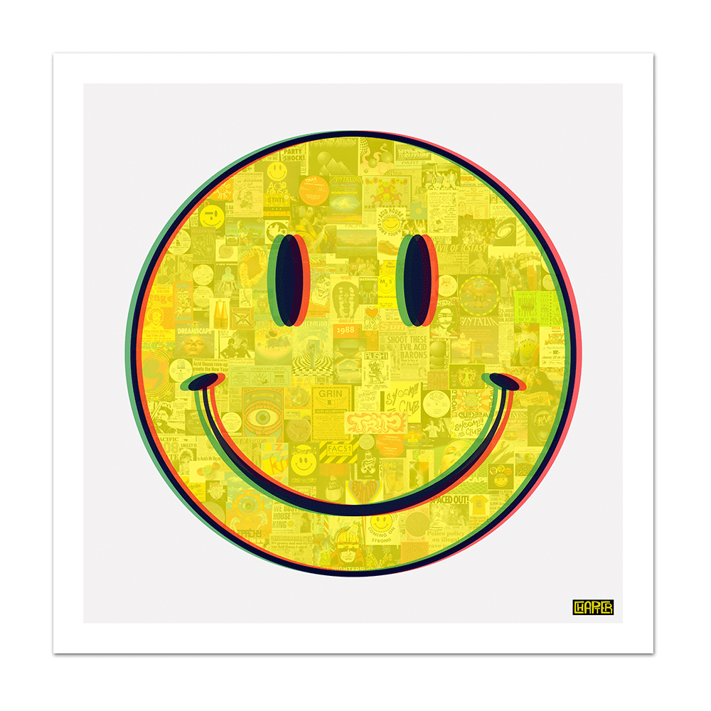 Three Decades Of Acid House In A Smiley Chapter Art Com